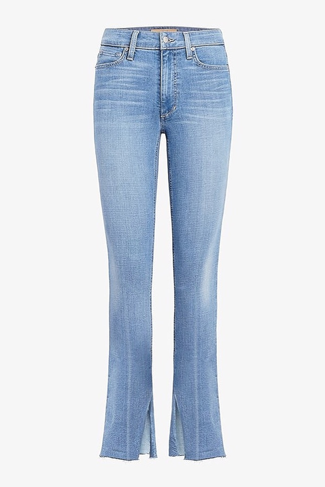 Joe's Jeans The Microflare Slit Raw Hem in Lorlai - Back Cropped Image