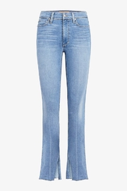 Joe's Jeans The Microflare Slit Raw Hem in Lorlai - Back cropped