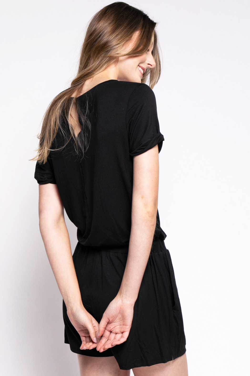 Pink Martini The Mila Romper - Side Cropped Image