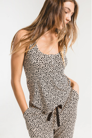 z supply The Mini Heart Henley Tank - Front cropped