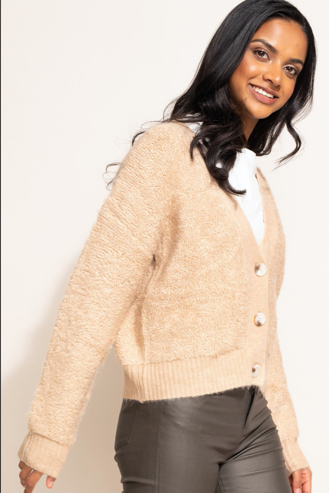 Pink Martini The Minnie Cardigan - Front Full Image