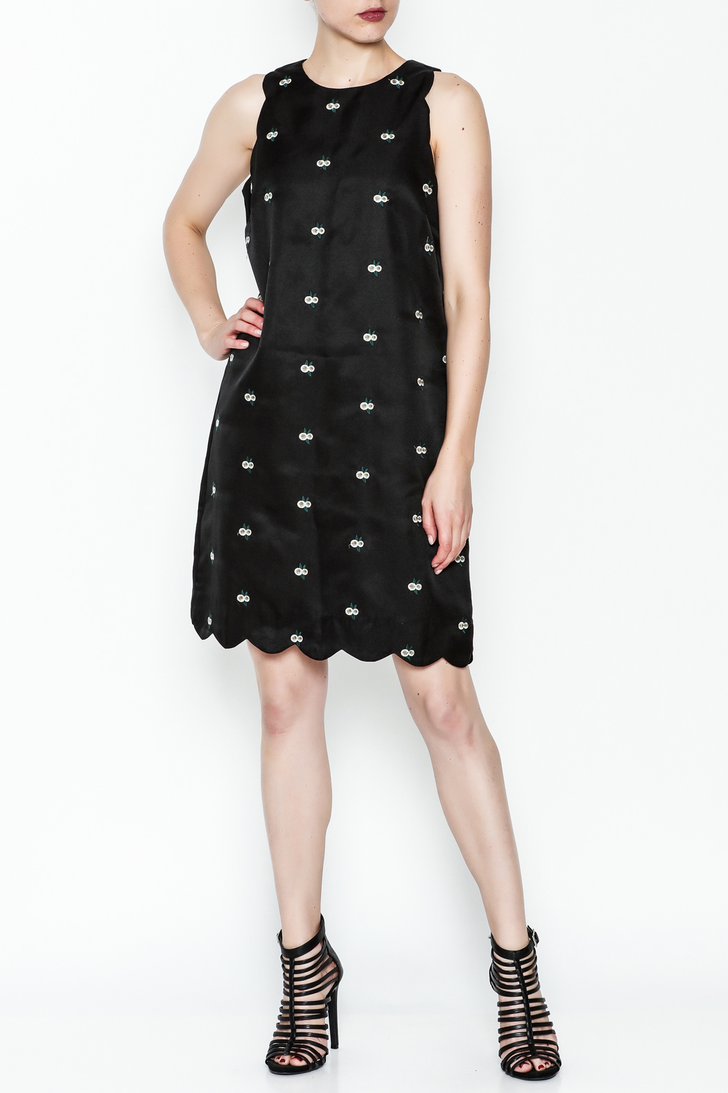 the moon Alene Work Dress - Side Cropped Image