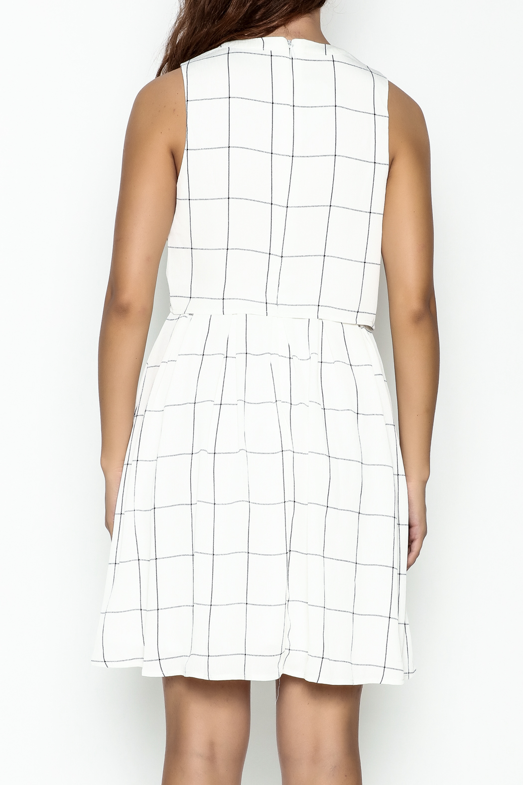 the moon Mad Men Dress - Back Cropped Image