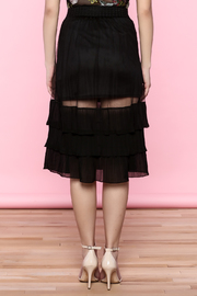 the moon Ruffle Mesh Skirt - Back cropped