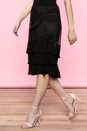 the moon Ruffle Mesh Skirt - Main Image