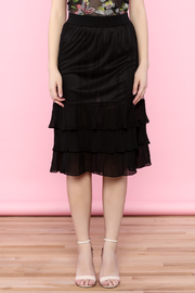the moon Ruffle Mesh Skirt - Front full body