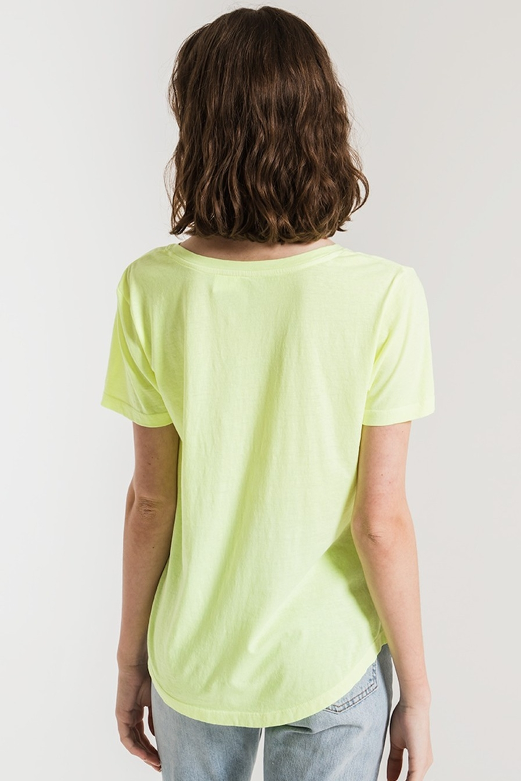 z supply The Neon V-Neck Tee - Side Cropped Image