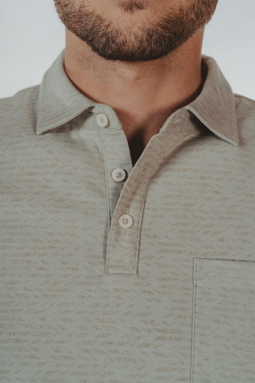 The Normal Brand Print Polo - Back Cropped Image