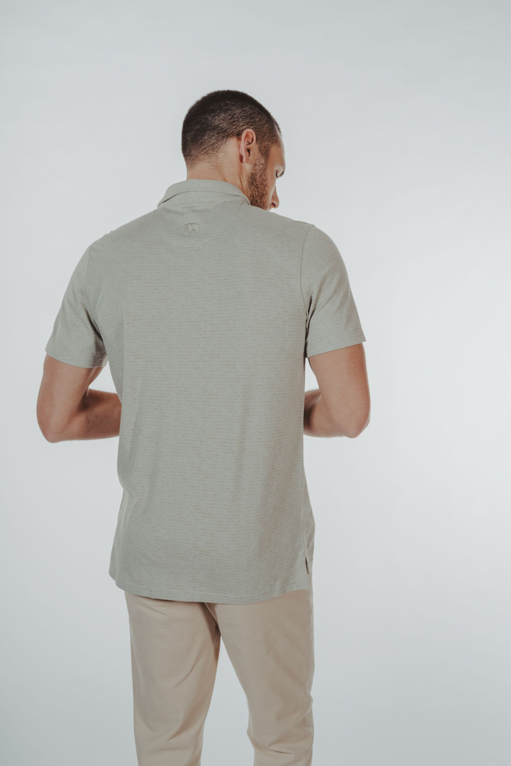 The Normal Brand Print Polo - Side Cropped Image