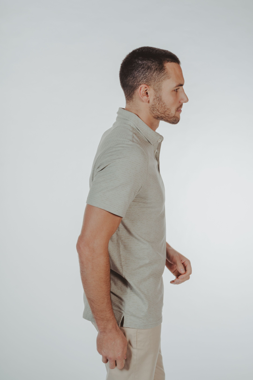 The Normal Brand Print Polo - Front Full Image