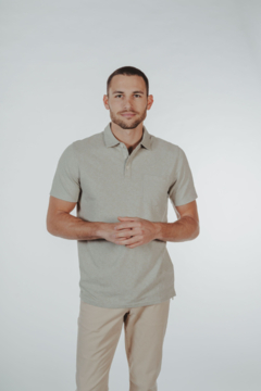 The Normal Brand Track Print Everyday Polo - Product List Image