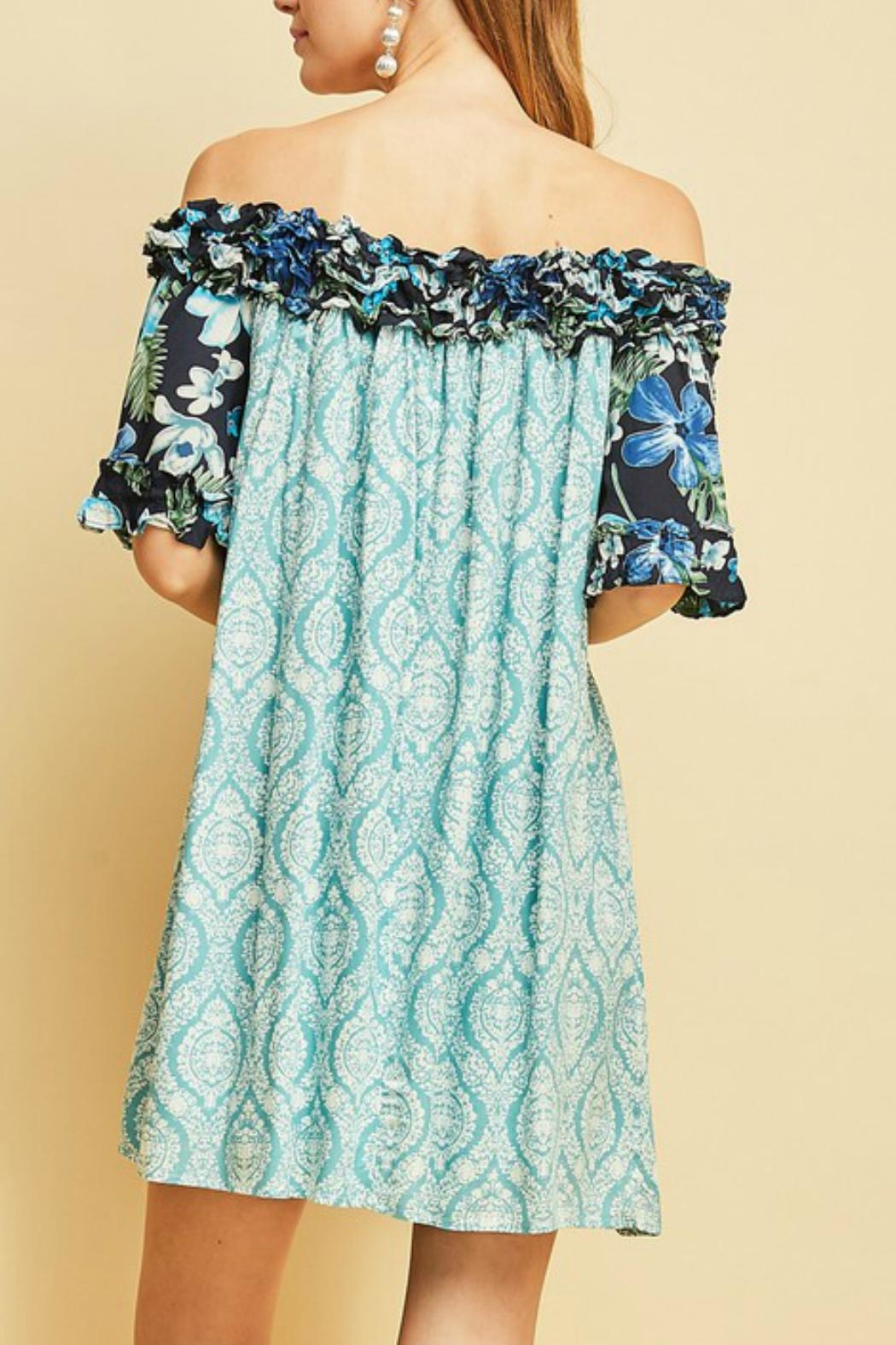 Entro The Ocean Dress - Back Cropped Image