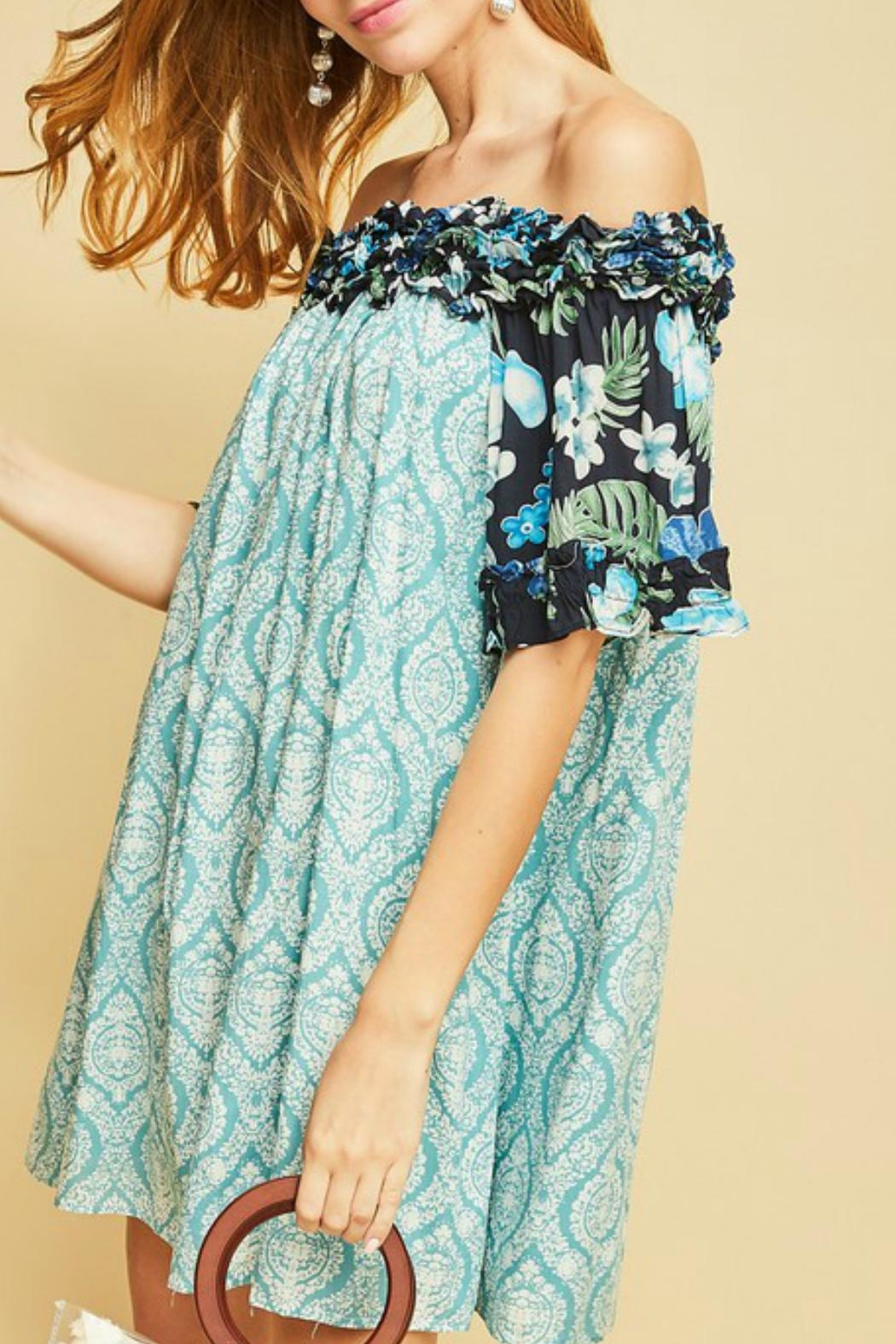 Entro The Ocean Dress - Front Cropped Image