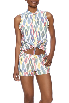 The Odells Ikat Tie-Up Top - Product List Image