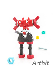 Fat Brain Toys  The Off Bits: The Art Of Spare Parts Character Kit - Front cropped