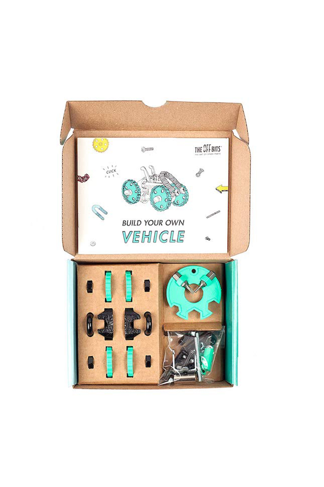 Fat Brain Toys The Off Bits: The Art Of Spare Parts Vehicle Kit - Front Full Image