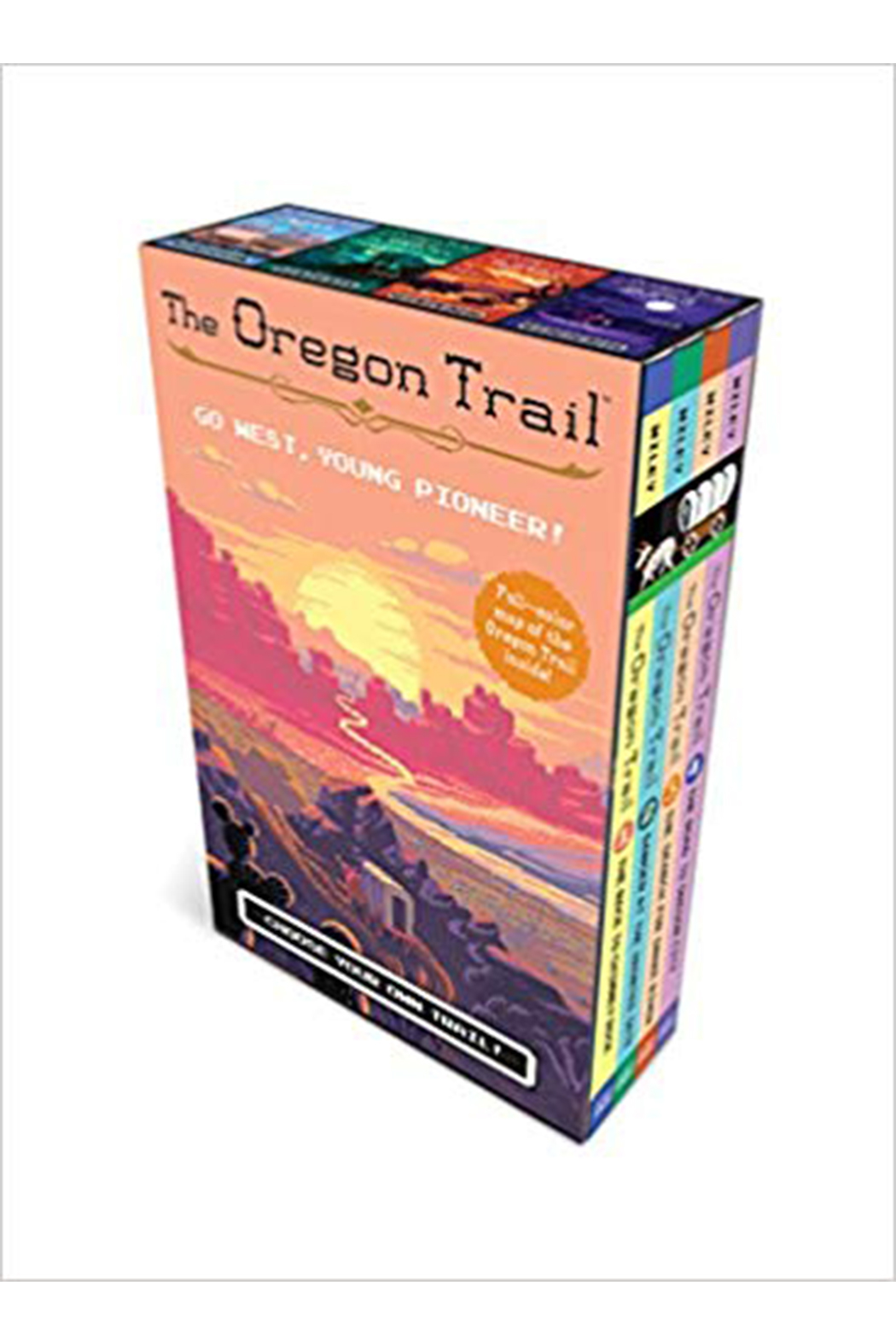 Houghton Mifflin Harcourt  The Oregon Trail: Choose Your Own Trail! Go West, Young Pioneer! Boxed Set - Main Image
