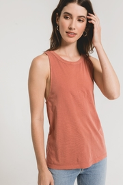 z supply The Organic Cotton Muscle Tank - Front full body