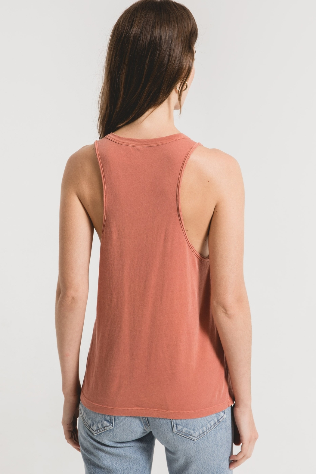z supply The Organic Cotton Muscle Tank - Side Cropped Image
