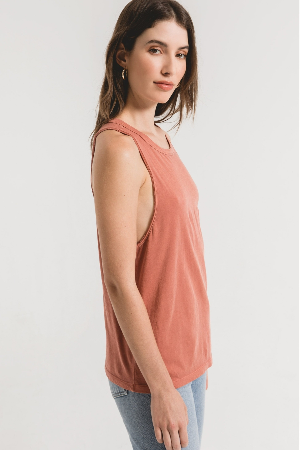 z supply The Organic Cotton Muscle Tank - Back Cropped Image