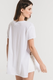 z supply The Organic Cotton Side Slit Tunic - Back cropped