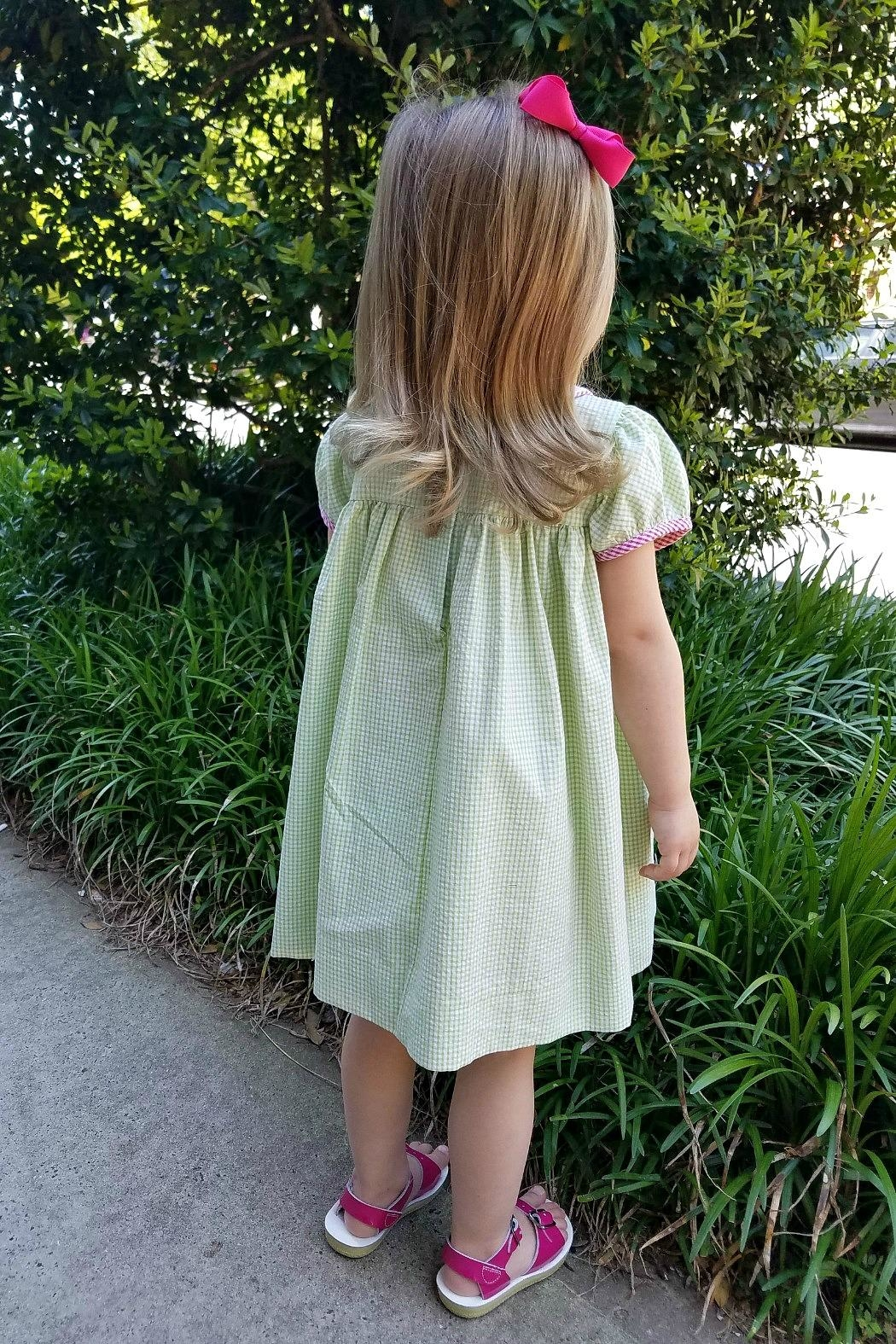Lulu B The-Palmetto-State Gingham Dress - Back Cropped Image