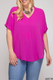 She and Sky The Perfect Basic top - Front cropped