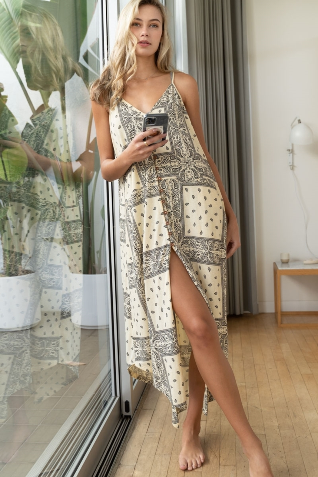 POL  The Perfect Paisley Midi Dress - Main Image