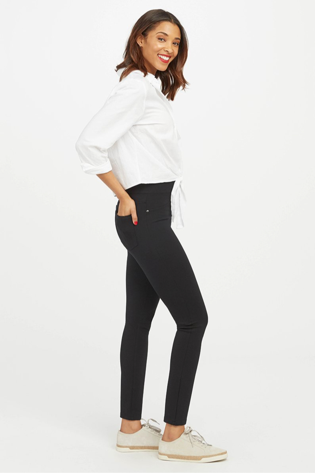 Spanx The Perfect Pant - Ankle 4 Pocket - Front Full Image