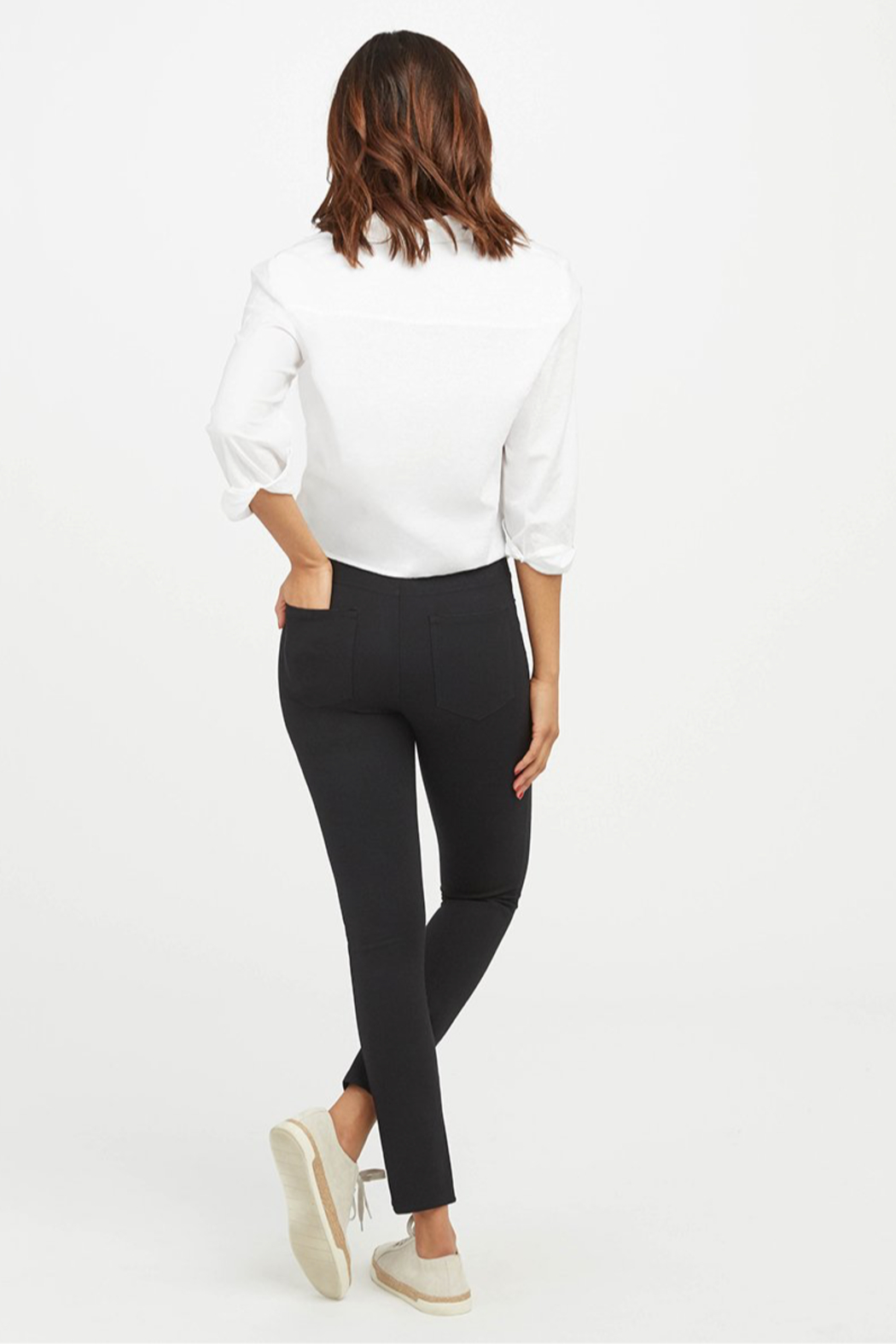 Spanx The Perfect Pant - Ankle 4 Pocket - Side Cropped Image