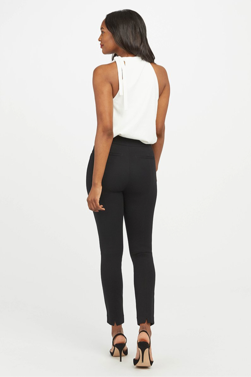 Spanx The Perfect Pant - Ankle Backseam Skinny - Side Cropped Image