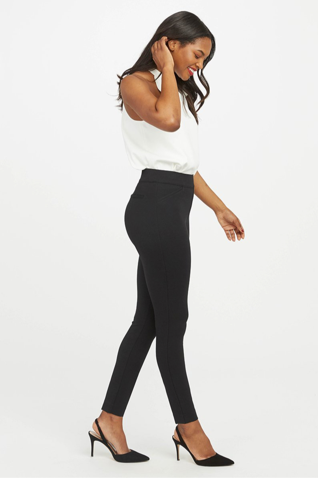 Spanx The Perfect Pant - Ankle Backseam Skinny - Front Full Image