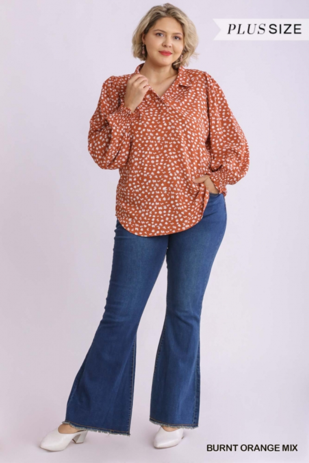 Umgee Plus The Perfect Plus Fall Top - Front Full Image