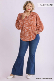 Umgee Plus The Perfect Plus Fall Top - Front full body