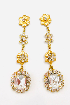 Shoptiques Product: The Pink Reef Hand set Austrian crystal Dangle Earring