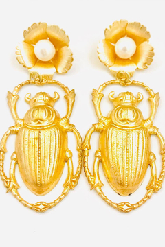 Shoptiques Product: The Pink Reef large scarab beetle