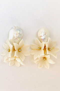Shoptiques Product: The Pink Reef pearl bouquet earring
