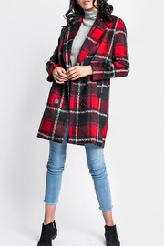 Pink Martini The Plaid Garnet Coat - Front cropped