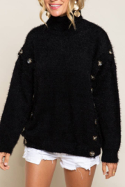 POL  The Poconos Fuzzy Sweater - Front cropped