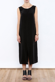 The Podolls Black Silk Dress - Front cropped