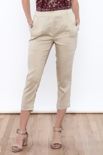Shoptiques Product: Natural Linen Pants - main
