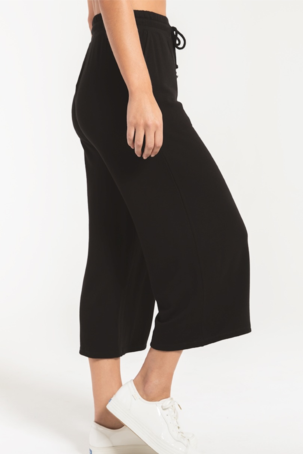 z supply The Premium Fleece Crop Pant - Back Cropped Image