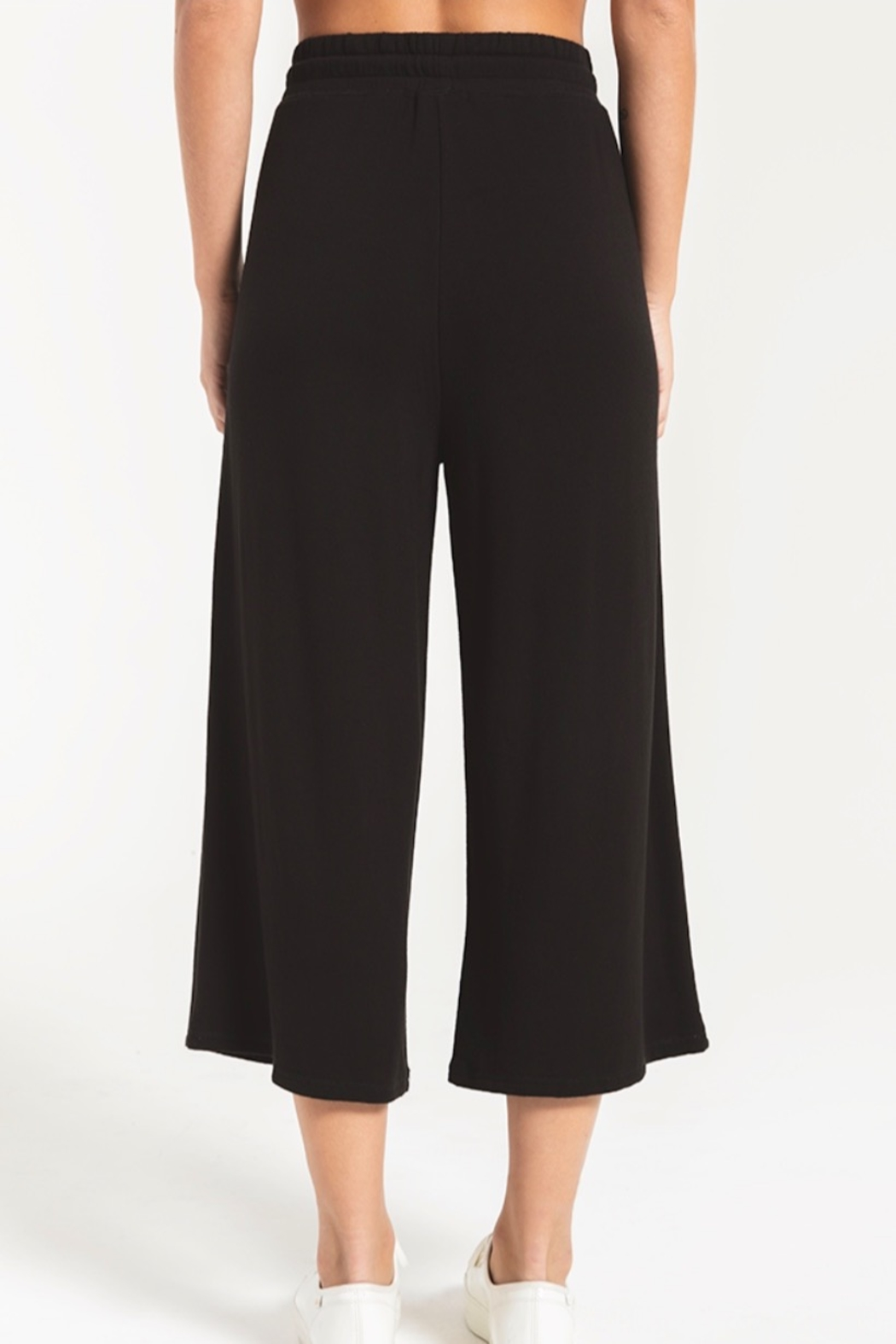 z supply The Premium Fleece Crop Pant - Side Cropped Image