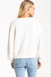 z supply The Premium Fleece Deep VNeck Pullover - Side cropped