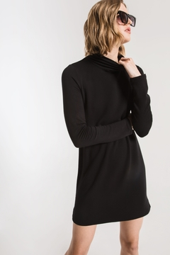 z supply The Premium Fleece Turtleneck Dress - Alternate List Image