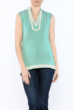 The Royal Standard Turquoise Sleeveless Blouse - Product List Image