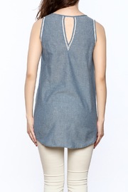 The Royal Standard Chambray Sleeveless Tunic Top - Back cropped