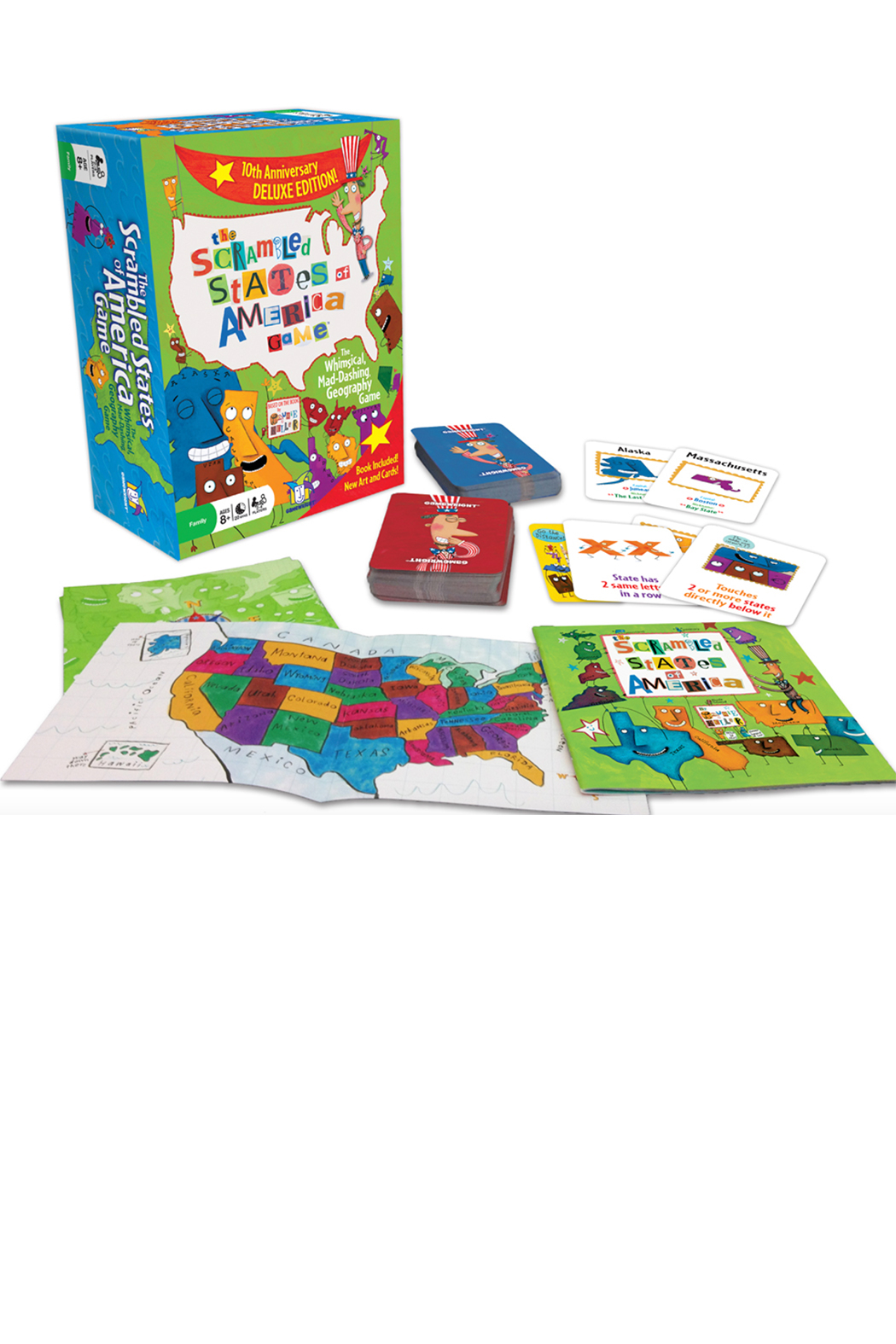 Gamewright The Scrambled States of America Game - Main Image
