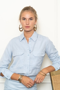 The Shirt Rochelle Behrens  THE SHIRT BUTTON DOWN BLOUSE - Product List Image