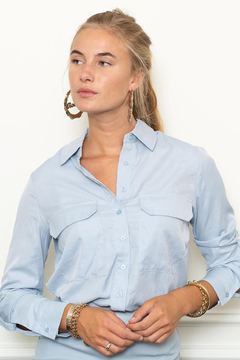 The Shirt Rochelle Behrens  THE SHIRT BUTTON DOWN BLOUSE - Alternate List Image